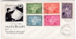 M436 Guinea Premier Jour FDC 1964 15 Eme ANNIVERSAIRE DE LA DECLARATION UNIVERSELLE DES DROITS DE L'HOMME E. Roosevelt - Guinée (1958-...)