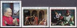 """1968-(MNH=**) Congo Posta Aerea S.3v.""""Quadri""""catalogo Yvert Euro 7 - Congo - Brazzaville"""