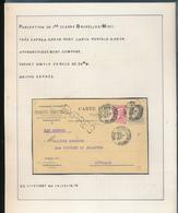 BELGIUM BELGIQUE SUR CARTE EXPRES DE BRUXELLES 1908 VERS AUVELAIS TROUS D'ARCHIVE - 1905 Grosse Barbe