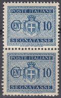 ITALIA - 1934 - SEGNATASSE - 2 Valori Nuovi MNH Uniti Fra Loro Yvert 29. - 1900-44 Victor Emmanuel III.