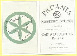Umorismo E Satira - PADANIA - Repubblica Federale - Carta D'Identità Padana - Europa Dei Popoli - Altre Collezioni