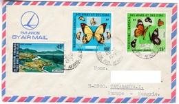 M438 Afars Et Issas Lettre 1975 Papillon Butterfly - Afars Et Issas (1967-1977)