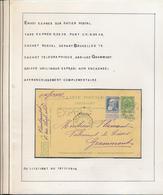 BELGIUM BELGIQUE SUR ENTIER EXPRES DE BRUXELLES 1908 VERS GRAMMONT TROUS D'ARCHIVE - 1905 Grosse Barbe
