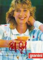 Steffi Graf , Granini Postcard With Original Signature - Tennis