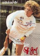 Steffi Graf , Adidas Postcard With Original Signature - Tennis