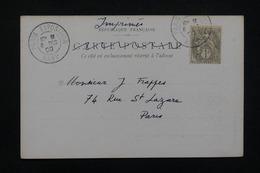 """FRANCE - Oblitération """" Paris Exposition Rapp """" Sur Type Blanc Sur Carte Postale En 1900 - L 23191 - Marcophilie (Lettres)"""