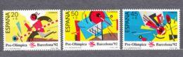 Spain 1988 Olympic Games Barcelona Mi#2845-2847 Mint Never Hinged Short Set - 1931-Aujourd'hui: II. République - ....Juan Carlos I