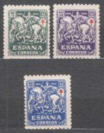 Spain 1945 TBC Pro Tuberculosos Mi#931-933 Mint Hinged - Wohlfahrtsmarken