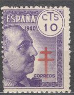 Spain 1940 TBC Pro Tuberculosos Mi#27 Mint Hinged - Wohlfahrtsmarken