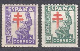 Spain 1946 TBC Pro Tuberculosos Mi#39-40 Mint Hinged - Wohlfahrtsmarken