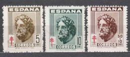 Spain 1948 TBC Pro Tuberculosos Mi#45-46 + Mi#968 Mint Hinged - Wohlfahrtsmarken