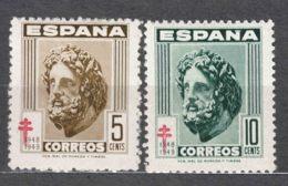 Spain 1948 TBC Pro Tuberculosos Mi#45-46 Mint Hinged - Wohlfahrtsmarken