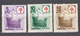 Spain 1949 TBC Pro Tuberculosos Mi#49-50 + Mi#972 Mint Hinged - Wohlfahrtsmarken