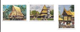 BM93 - IMAGES CIGARETTES JOSETTI - INDONESIE - HABITATIONS A SUMATRA - Cigarette Cards