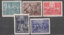 Spain Beneficiencia 1938 Edifil#29-33 Mint Hinged - Charity