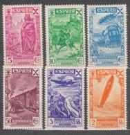 Spain Beneficiencia 1938 Edifil#21-26 Mint Hinged - Wohlfahrtsmarken