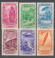 Spain Beneficiencia 1938 Edifil#21-26 Mint Hinged - Charity