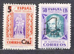Spain Beneficiencia 1938 Edifil#27-28 Mint Hinged - Wohlfahrtsmarken