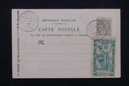 """FRANCE - Oblitération """" Paris Exposition Rapp """" Sur Type Blanc Et Vignette Sur Carte Postale En 1900 - L 23194 - Marcophilie (Lettres)"""