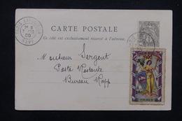 """FRANCE - Oblitération """" Paris Exposition Rapp """" Sur Type Blanc Et Vignette Sur Carte Postale En 1900 - L 23196 - Marcophilie (Lettres)"""