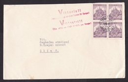 Germany / Occupied Bohemia: Cover, 1941, 4 Stamps, Cancel Melnik, War Propaganda Victory For Germany (roughly Opened) - Bohemen En Moravïe