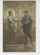 """GUERRE 1914-18 - Jolie Carte Fantaisie Avec Poilu """"Vision De JEANNE D'ARC """" - Guerre 1914-18"""