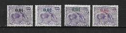 GUYANE  1922  N°91 à 94   Timbres De 1904 Surchargés  Neufs Avec Trace De Charnière - Neufs
