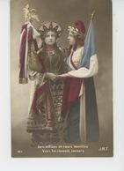 """GUERRE 1914-18 - Jolie Carte Fantaisie Femmes Française Et Russe """"Des Millions De Coeurs Honnêtes Vers Toi Clament ... - Guerre 1914-18"""