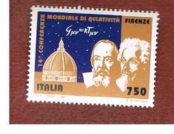ITALIA - UN. 2215  -    1994 CONVEGNO SULLA RELATIVITA' (GALILEO, EINSTEIN)   -  NUOVI **(MINT) - 6. 1946-.. Repubblica