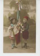 """GUERRE 1914-18 - Jolie Carte Fantaisie Enfants """"L'Alsace Glorieuse Revivra Désormais D'une Vie Radieuse Sous Le Drapeau - Guerre 1914-18"""