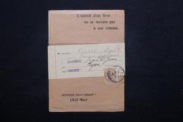 FRANCE - Type Blanc 4cts Sur Bande Journal De Lille En 1906 Pour Lyon - L 23198 - Marcophilie (Lettres)