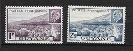 GUYANE  1941  N° 172/173  Vue De Cayenne Et Eff. Du Mal.Pétain   Neufs Avec Trace De Charnière - Neufs