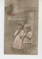 """GUERRE 1914-18 - Jolie Carte Fantaisie Enfants Et Poilu """"Nous Prions Pour Toi ! """" - Guerre 1914-18"""
