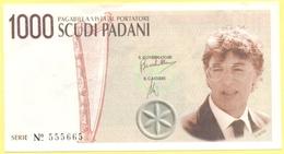 1000 Scudi Padani - Pseudo Banconote Della Padania - 1997 - Gadget Politico - Lega Nord Bossi Umberto - Italia