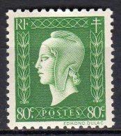MARIANNE DE DULAC 1945 -   80c Vert - N° 688** - 1944-45 Marianne De Dulac