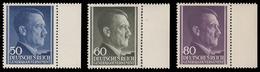 Polonia - Effige Di Hitler Tipo Del 1942 - Serie 3 Valori 50 / 60 / 80 G. / B.f. .- 1943 - Governo Generale