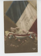 """GUERRE 1914-18 - Jolie Carte Fantaisie Bébé Et Drapeau Tricolore """"IL GRANDIRA POUR LA PATRIE """" - Guerre 1914-18"""