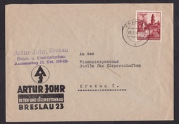 Germany / Occupied Poland / Generalgouvernement: Cover, 1940, 1 Stamp, Cancel Krakau, Construction (minor Discolouring) - 1939-44: 2de Wereldoorlog