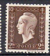 MARIANNE DE DULAC 1945 -   2F Brun - N° 692** - 1944-45 Marianne De Dulac