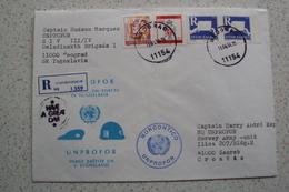 STORIA POSTALE MISSIONI INTERNAZIONALI ONU NATO MISSIONE UNPROFOR BOSNIA DA BELGRADO BEOGRAD SERBIA NORCONTICO UNPROFOR - Serbia