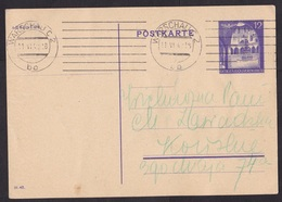 Germany / Occupied Poland / Generalgouvernement: Stationery Postcard, 1942, Cancel Warschau, War (minor Damage) - 1939-44: 2de Wereldoorlog