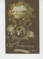 """GUERRE 1914-18 - Jolie Carte Fantaisie Femme Et Poilu """"LANGAGE DE LA MARGUERITE - A La Folie """" - Guerre 1914-18"""