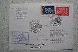 STORIA POSTALE MISSIONI INTERNAZIONALI ONU NATO MISSIONE UNPROFOR BOSNIA MACEDONIA MECHEDHONIA MAKEDONIJA - Macedonia