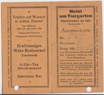 Charlottenburg Berlin Hôtel Am Tiergarten Bismarckstrasse 1920 - Non Classés