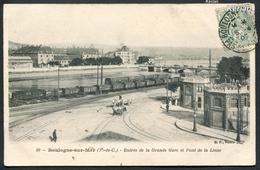 Boulogne-sur-Mer - Entrée De La Grande Gare Et Pont De La Liane - B. F. Paris N° 50 - Voir 2 Scans - Boulogne Sur Mer