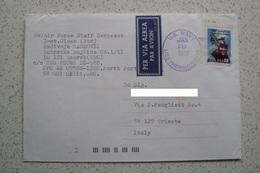 STORIA POSTALE MISSIONI INTERNAZIONALI ONU NATO MISSIONE IN BOSNIA MARINE USA U.S. NAVY USS THORN 1999 - Cartas