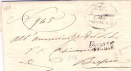 1845-(Brescia) Piego Con Testo Lineare Vestone 30 Marzo - Italie