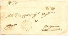 1843-(Brescia) Piego Con Testo Bollo In Corsivo Orzinovi 29 Settembre - Italie