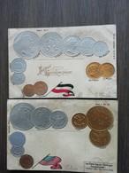Postkaarten Oude Munten Begin 1900 - Monnaies (représentations)