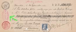 WANDRE LIEGE WUIDAR Exploitations Forestières  1912 Adressé Vers Dozot Entrepreneur à Cerexhe Heuseux - Lettres De Change